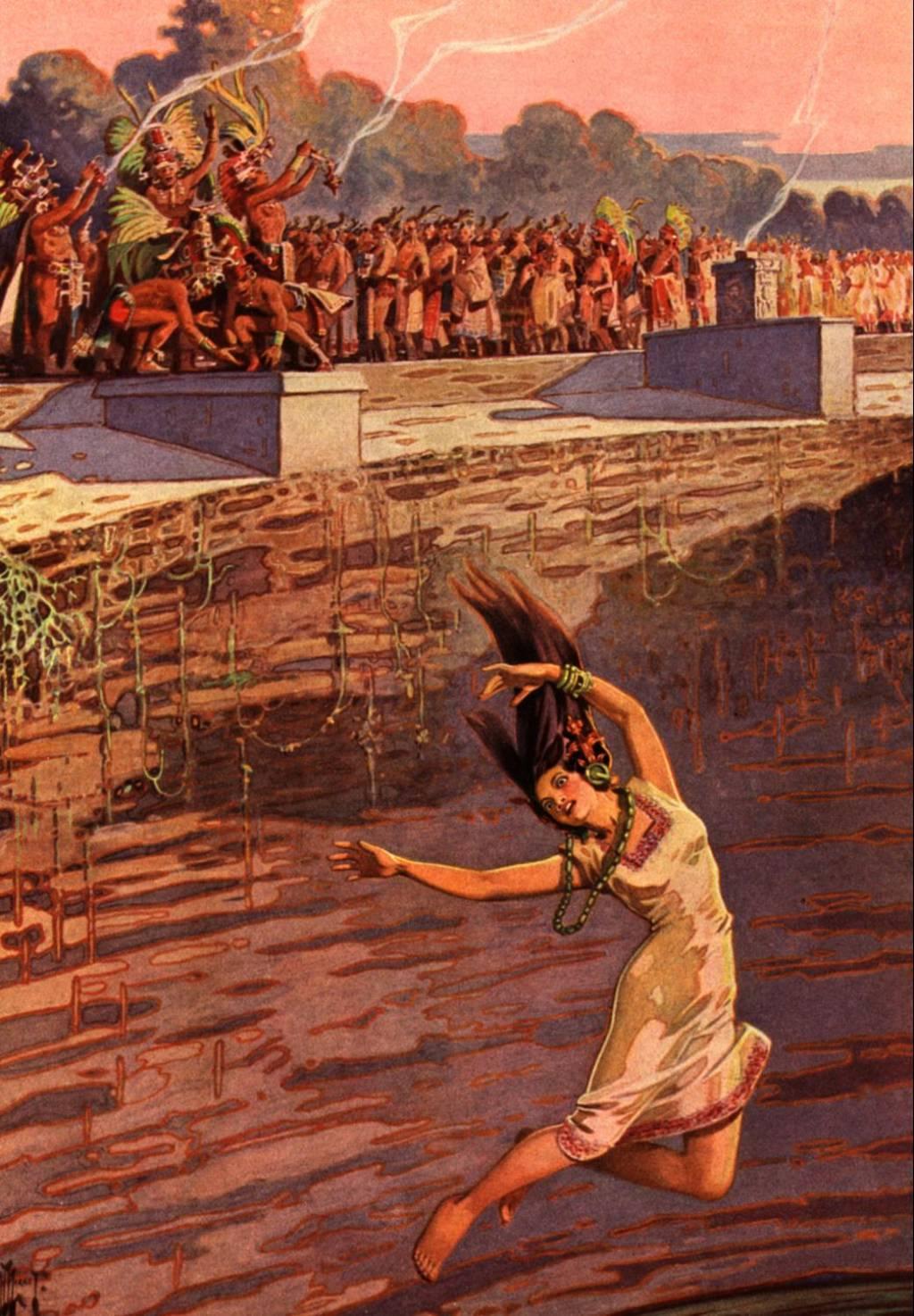 Young female human sacrifice exploited image