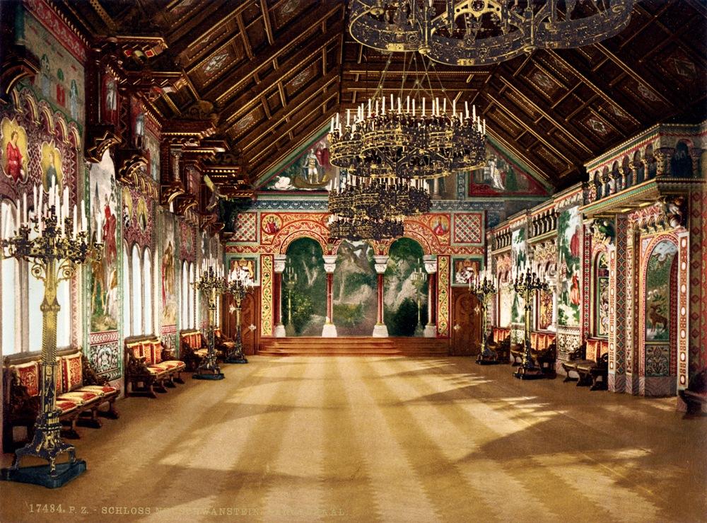 Интерьер зала замок