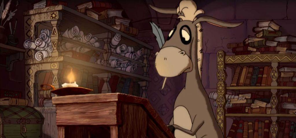 Кадр из мультфильма Алеша Попович и Тугарин.