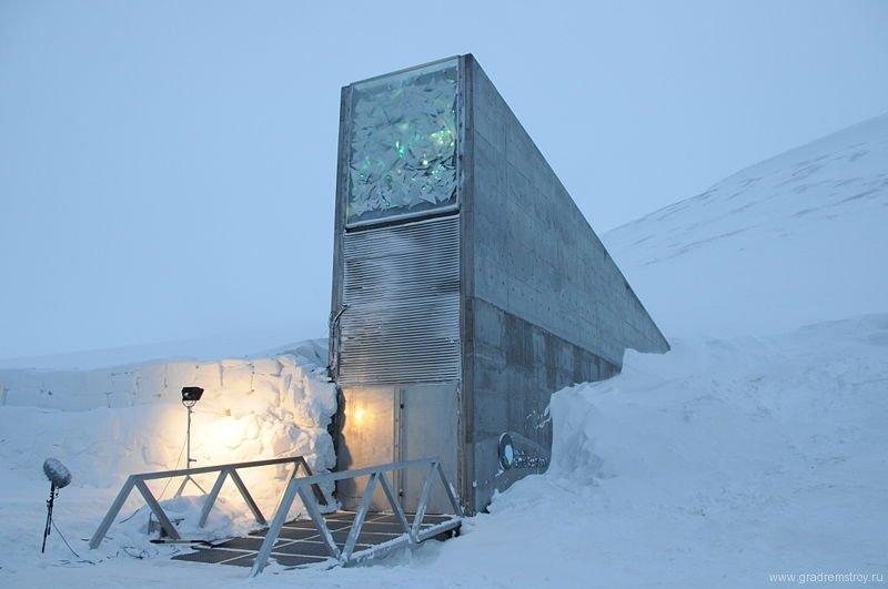 Всемирное семенохранилище на острове Шпицберген.