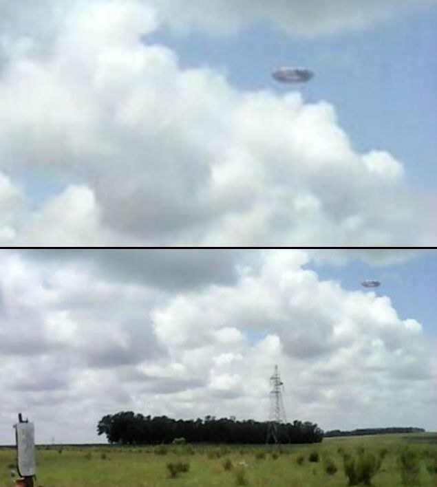 Бубликообразный НЛО пролетел над городом Ла Аурора