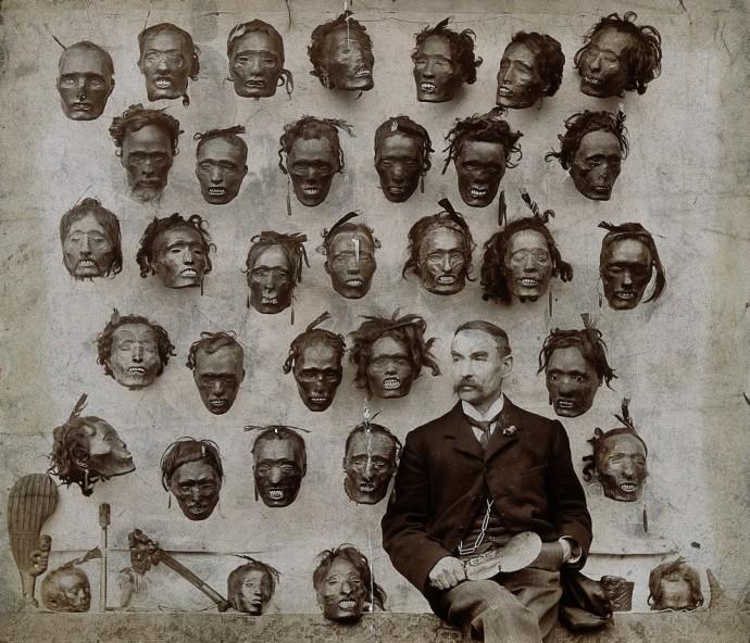 Горацио Гордон Робли и его коллекция отрубленных голов, 1895 г.