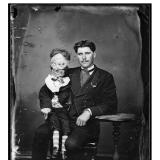 Лейтенант Герман и его кукла чревовещателя, примерно 1870 год