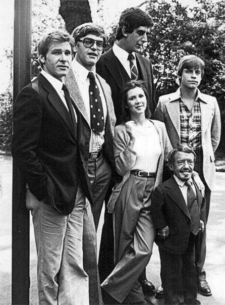 Актеры фильма «Звездные войны» прямо перед началом съемок.
