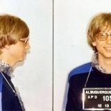 Билл Гейтс во время задержания за вождение без лицензии в 1977 году