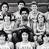 Барак Обама в своей школьной баскетбольной команде