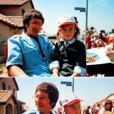Стивен Спилберг и Дрю Бэрримор на съемочной площадке