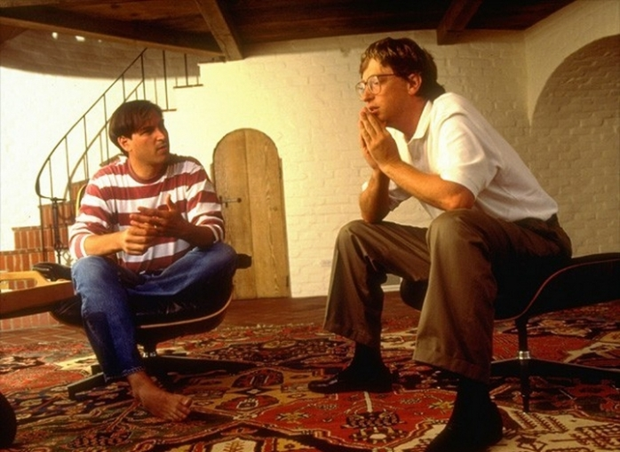 Стив Джобс и Билл Гейтс- 1991