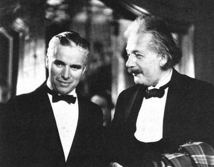 Чарли Чаплин и Альберт Эйнштейн