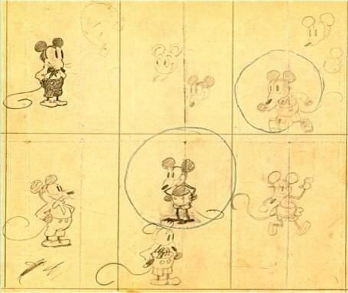 Ранние рисунки Микки Мауса Уолта Диснея