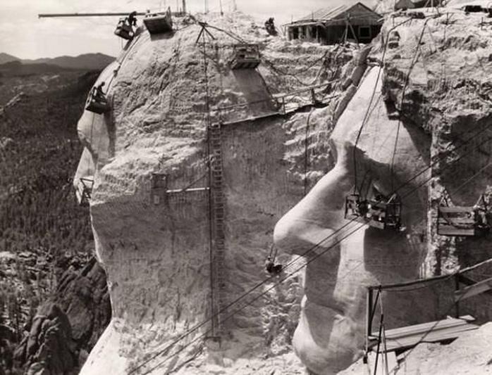 Строительство Горы Рашмор – 1939 год