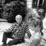 Пабло Пикассо и Бриджит Бардо – 1956 год