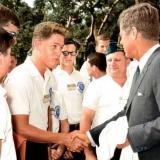 Молодой Билл Клинтон и Джон Кеннеди