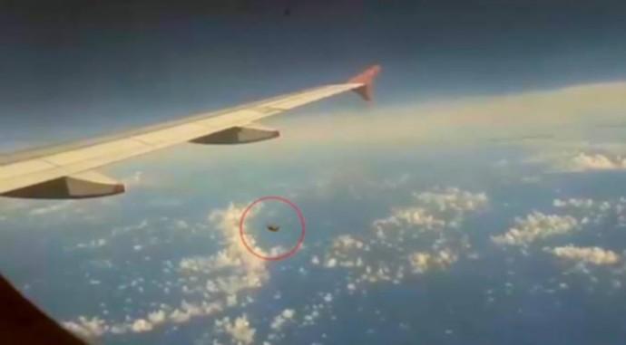 Фото НЛО с борта самолета