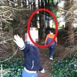 Фотография призрака в лесу
