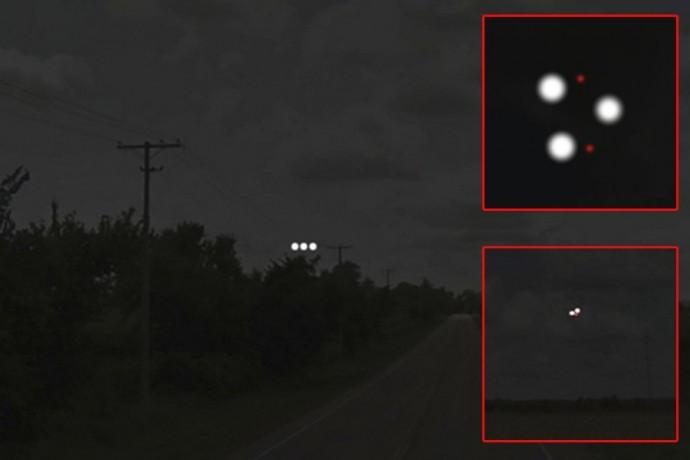 Фото Треугольного НЛО в штате Иллинойс