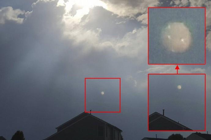 НЛО в штате Огайо перед грозой