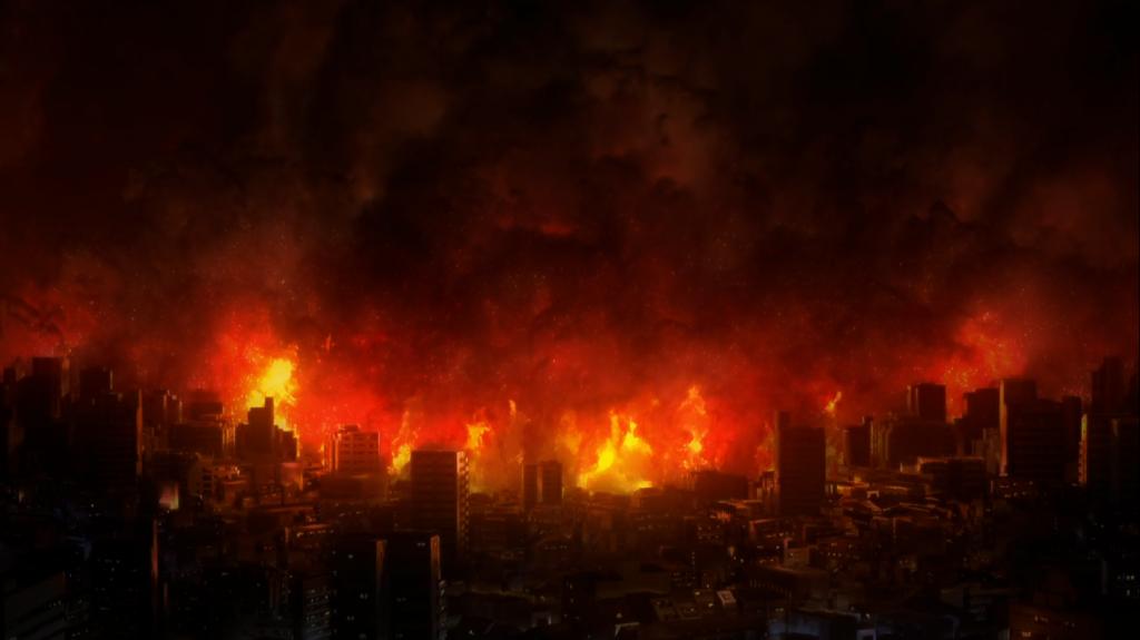 картинки горящий город настаивает