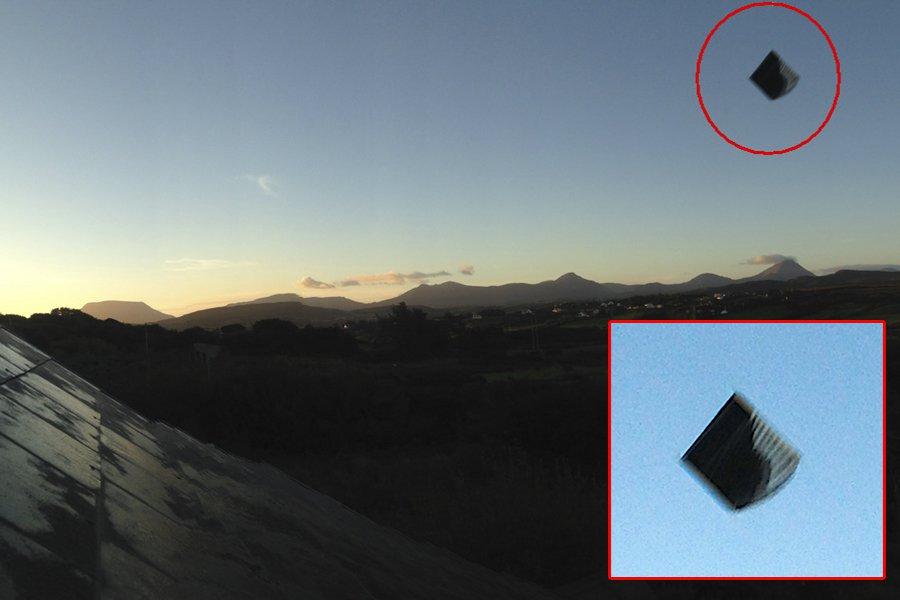 Пирамидоидальное НЛО в Ирландии