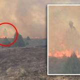 Фотография привидения при пожаре