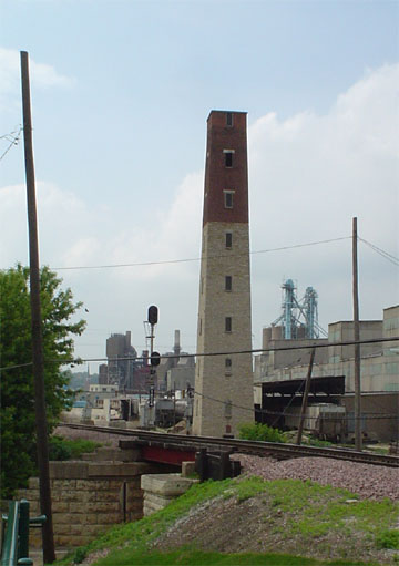 The Dubuque, Iowa shot tower.