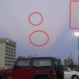 НЛО в небе в штате Арканзас США