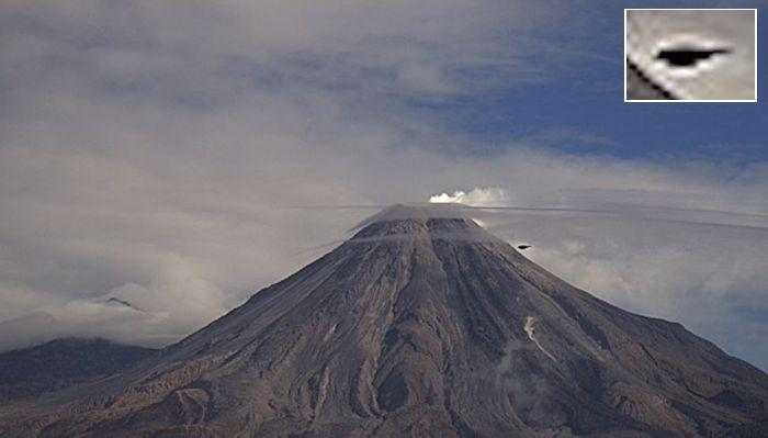 Над вулканом Попокатепетль пролетел НЛО