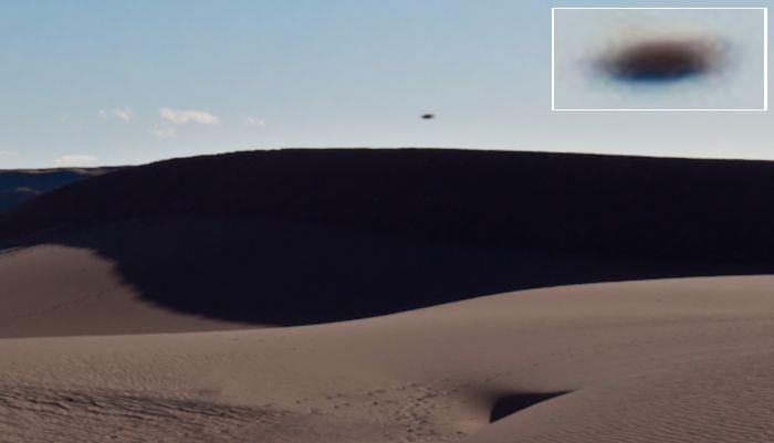 Дискообразный НЛО сняли в пустыне Айдахо