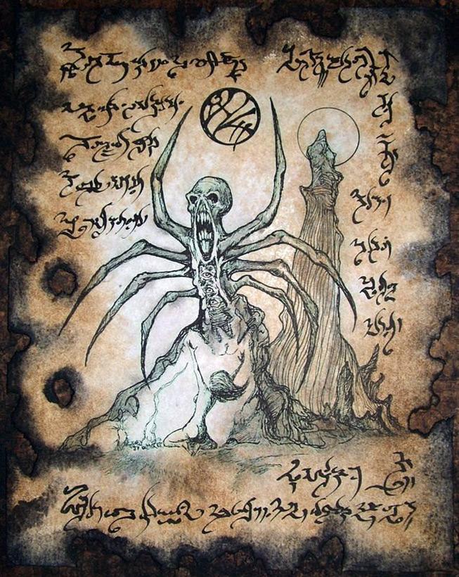 Иллюстрации из книги «Некрономикон»