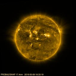 Меркурий на фоне Солнца