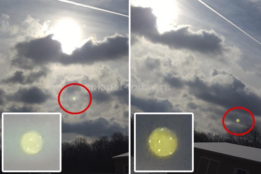 Шарообразный НЛО в Нью-Джерси