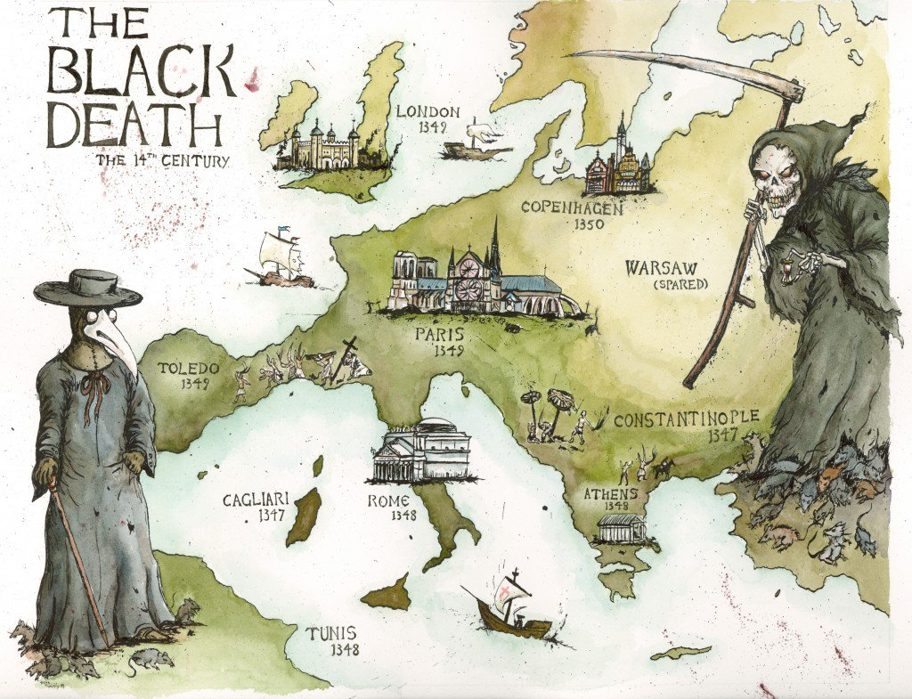 the black death devastation of 14th century europe Since the 11th century, economic growth and prosperity had pulled up population figures total population in western europe, estimated at 24 million in the year focus on the devastation caused by outbreaks of the black death in the mid-14th century is partially correct, but superficial, for these.