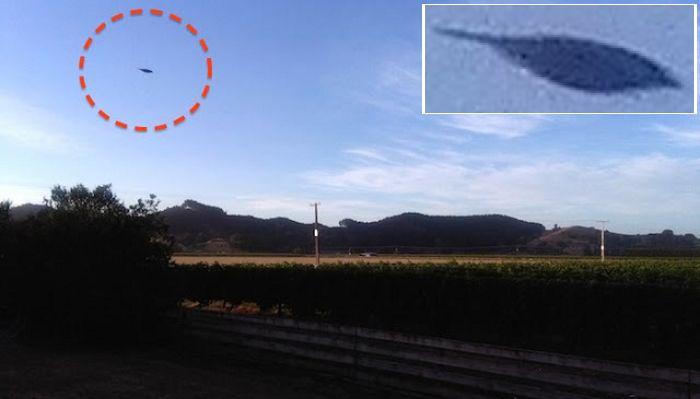 Дискообразный НЛО пролетел над Новой Зеландией