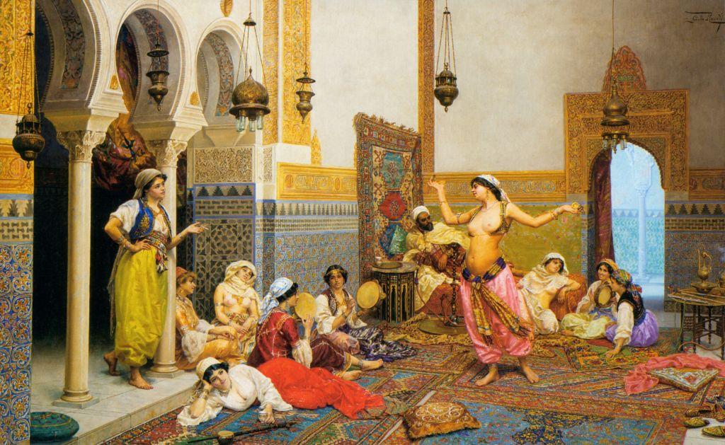 Евнух прислуживал во время сексуальн