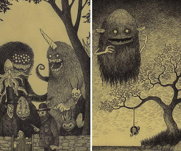 Детские кошмары в рисунках
