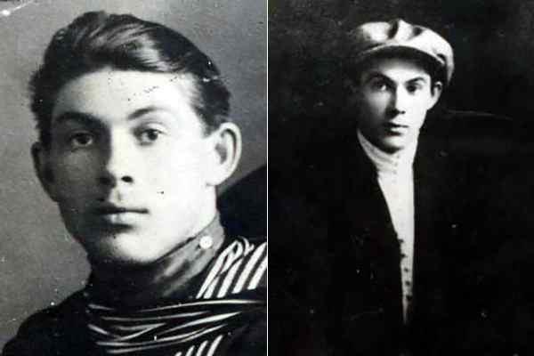 Николай Гастелло в молодости.