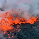 Самый опасный вулкан Ньирагонго в Африке