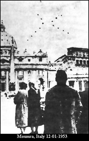 НЛО, 1953 год – Момра, Италия.