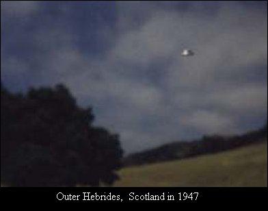 НЛО, 1947 год – Шотландия.