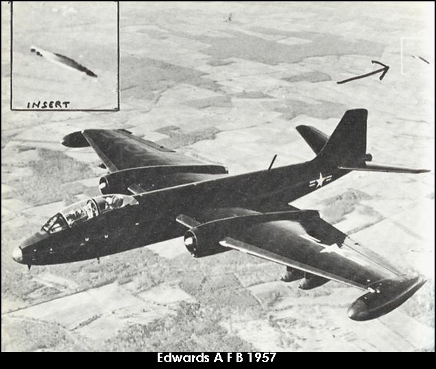 НЛО, 1957 год – авиабаза ВВС США «Эдвардс»,  штат Калифорния.