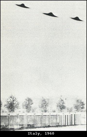 НЛО, Сентябрь, 1960 год – Италия.