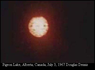 НЛО, 1967 год – Голубиное озеро, Альберта, Канада.