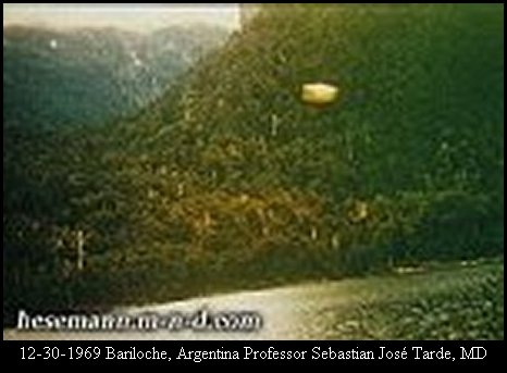 НЛО, 1969 год – Барилоче, Аргентина.