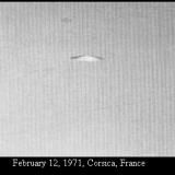 НЛО, 12 февраля, 1971 год – Корсика, Франция.