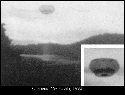 НЛО, 1990 год - Канайма, Венесуэла.