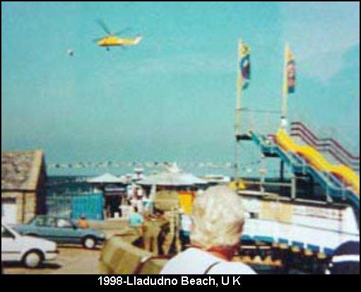 НЛО, 1998 год - Лландудно-Бич, Великобритания.