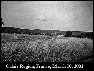 НЛО, 2002 год - Кале, Франция.
