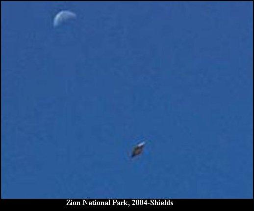 НЛО, 2004 год – Национальный парк Зайон, штат Юта.