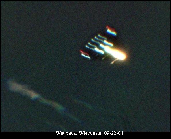 НЛО, 22 сентября, 2004 год – Вопака, штат Висконсин.