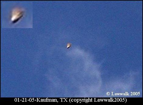 НЛО, 21 января, 2005 год – Кауфман, штат Техас.